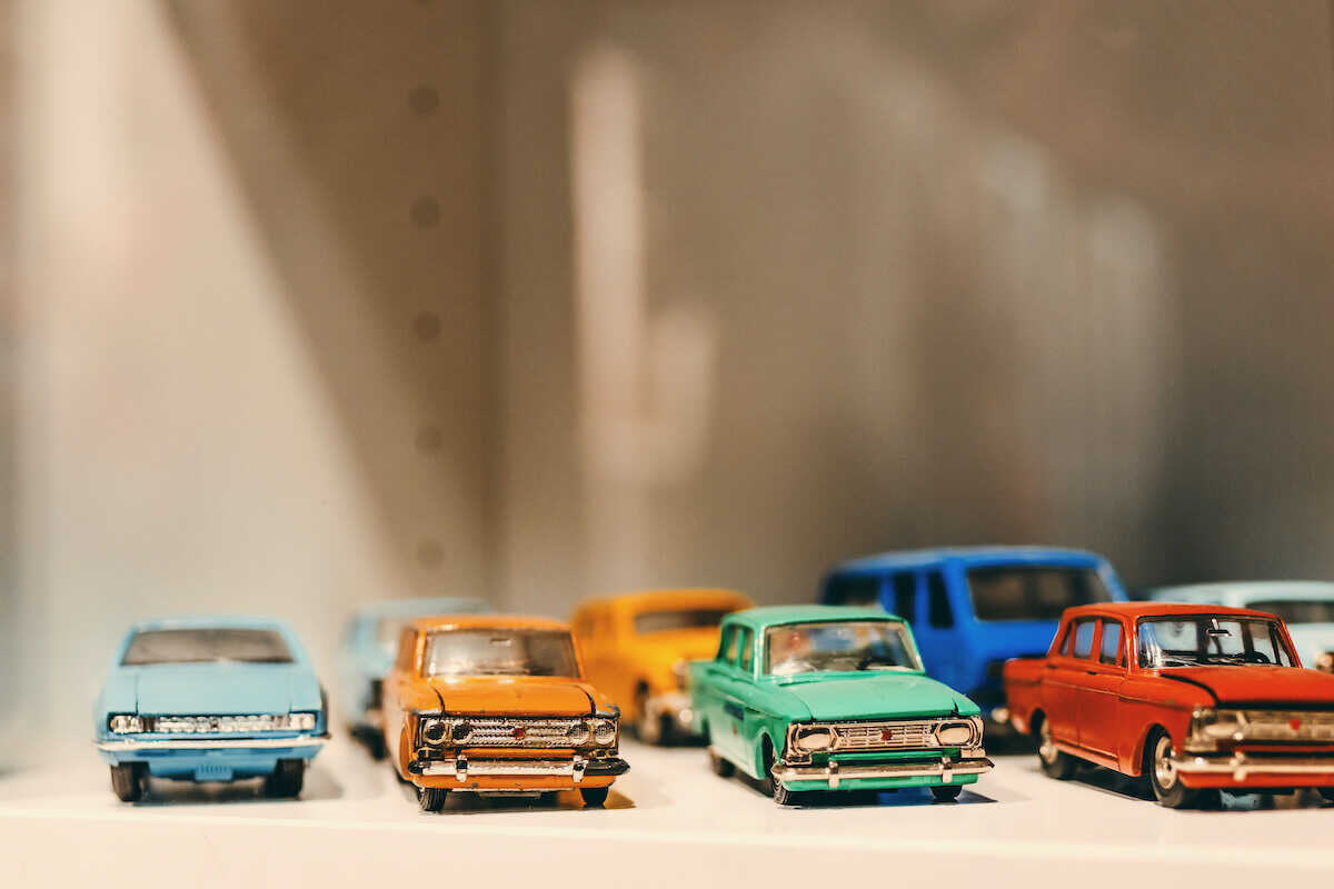 Toy cars can be lost easily if not stored in a good spot where kids can find them.